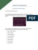 Manual de Usuario Instalacion Oracle 11g Ubuntu