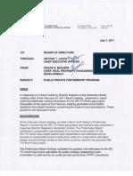 July 2011 Public Private Partnership Program