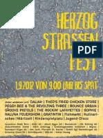 Das Programm des Herzogstrassenfest 2012 vom 1. September 2012