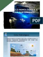 Aula Ciclo Hidrologico e Agua Subterrânea