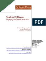 Center For Social Media - Youth As E-Citizens