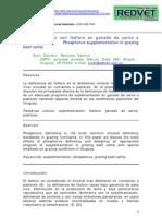 Suplementación con fósforo en ganado de carne a pastoreo (REDVET)