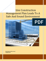 Effective Construction Management Plan Leads to a Safe and Sound Environment