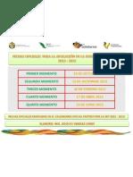 Fechas Oficiales Para La Aplicacion de Examenes 12 - 13