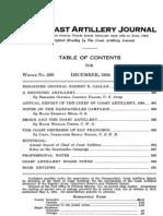Coast Artillery Journal - Dec 1924