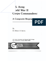 U.S. Army World War II Corps Commanders-A Composite Biography
