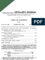 Coast Artillery Journal - Feb 1925