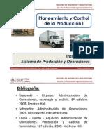 Sem 1.1 - PCP I - USMP - Sistema de Producción y Operaciones