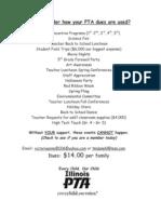 PTA - Miscellaneous Information