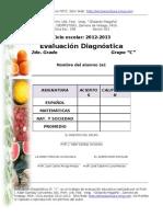 Evaluacion diagnóstica 2o. C GM1o.C1213