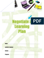 negotiate a learning plan