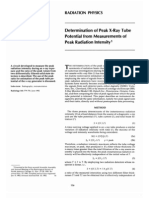 Determination of Peak X-Ray Tube