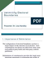 Delimiting Electoral Boundaries by Dr Lisa Handley