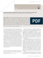 sodium hypochlorite as pulpotomy agent