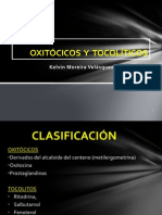 Oxitocicos y Tocoliticos - Kelvin Moreira