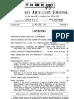 Coast Artillery Journal - Jan 1927