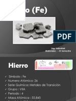 Hierro Materiales