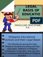Legal Basis of Education