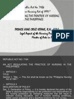 Republic Act of 1991 (Nsg.act)