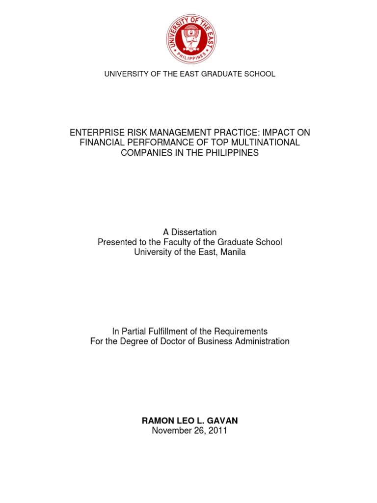 Risk Management Proposal Sample