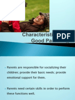 Characteristics of  Good Parenting
