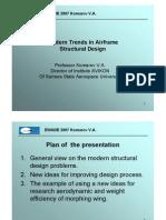 Modern Trends in Airframe Structural Design Komarov