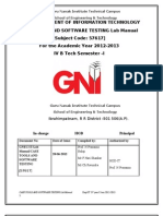 Case Tools and Testing Lab Manual