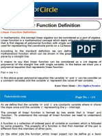 Linear Function Definition