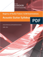 Acoustic Guitar Syllabus