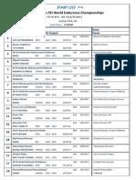 WEC Start List
