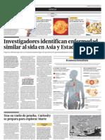 Investigadores Identifican Enfermedad Similar Al Sida en Asia y Estados Unidos