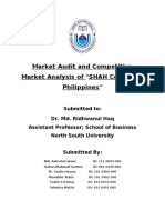 Market Audit and Competitive Market Analysis of SHAH Cement in Philippines