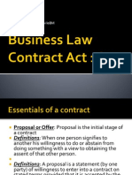 Business Law Contract Act 1872 (Part 1)