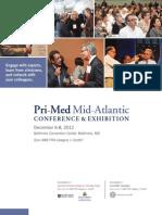 Pri-Med Mid-Atlantic 2012 Full Conference Brochure