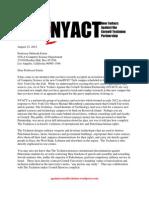 NYACT Open Letter to Deborah Estrin Cornellnyc Tech s First Faculty Member 23 August 20121