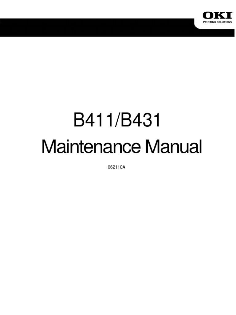 oki b411 b431 service manual electrostatics power supply rh es scribd com oki b431dn maintenance manual oki b431 maintenance manual