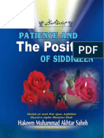 Patience and the Position of Siddiqeen