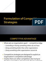 1.Formulation of Competitive Strategies