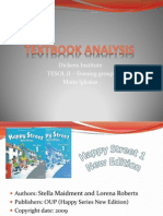 Happy Street 1 - Textbook Analysis presentation