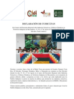 Declaración Cushcátan sobre Extractivismo