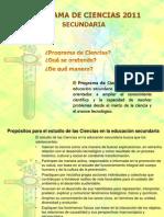 Programa de Ciencias 2011