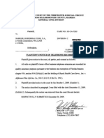 Plaintiff's Notice of Telephone Recording, 05-CA-7205, Dec-30-2009