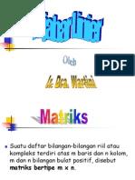 Matriks, Operasi Matriks, Pekalian Matriks Dengan Sebuah Bilangan