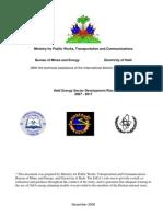 Haiti Energy Sector Development Plan 2007 - 2017, 11-2006