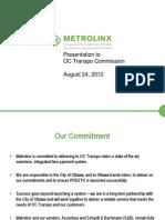 Metrolinx Presentation to OC Transpo on Presto