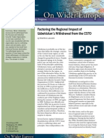 Factoring the Regional Impact of Uzbekistan's Withdrawal from the CSTO