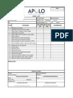 Check List - Inspeção de Veiculos APOLO