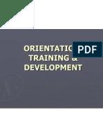 Orientation, Training & Development