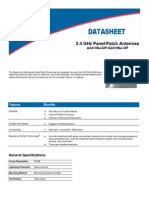 2.4 GHz Directional Panel Patch Antenna Datasheet