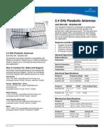 2 4 GHz Directional Parabolic Antenna A2419 2424NJ DB Datasheet